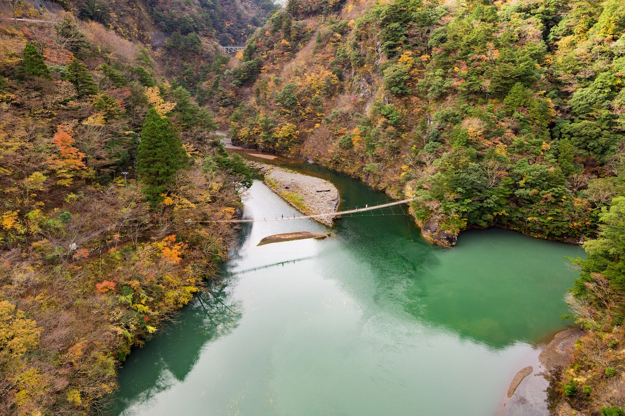 寸又峡 夢の吊り橋1