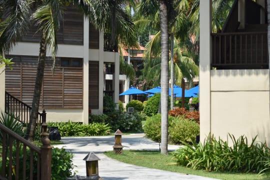 ジャングルトレイルの開催されるホテル『Laguna Redang Island Resort』の敷地