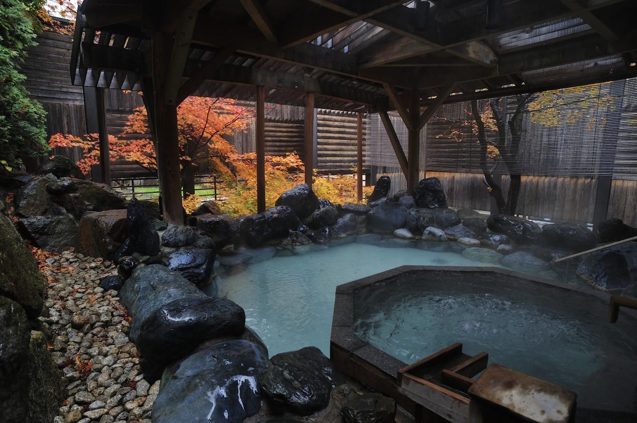 定山渓温泉 露天風呂
