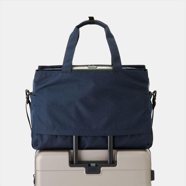 荷物の量で広げられる 撥水 ボストンバッグ