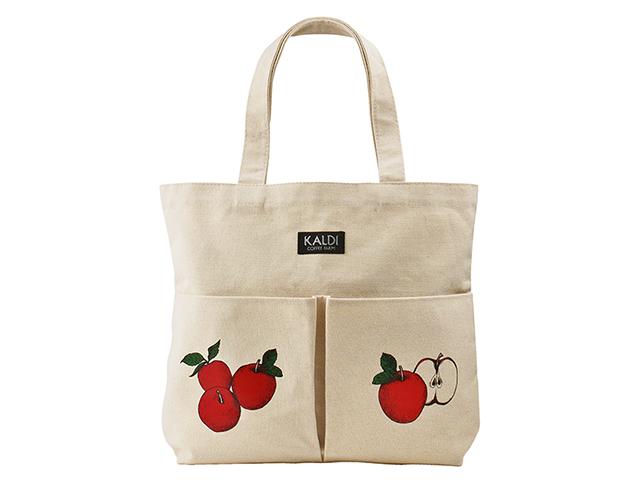 カルディコーヒーファーム「オリジナルりんごバッグ」