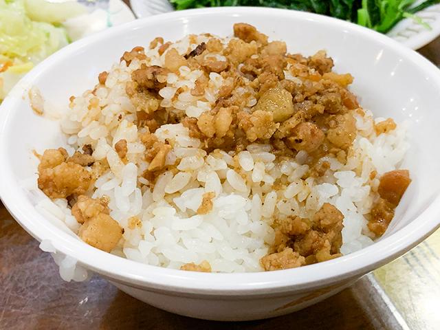 魯肉飯は台湾のソウルフードのひとつ