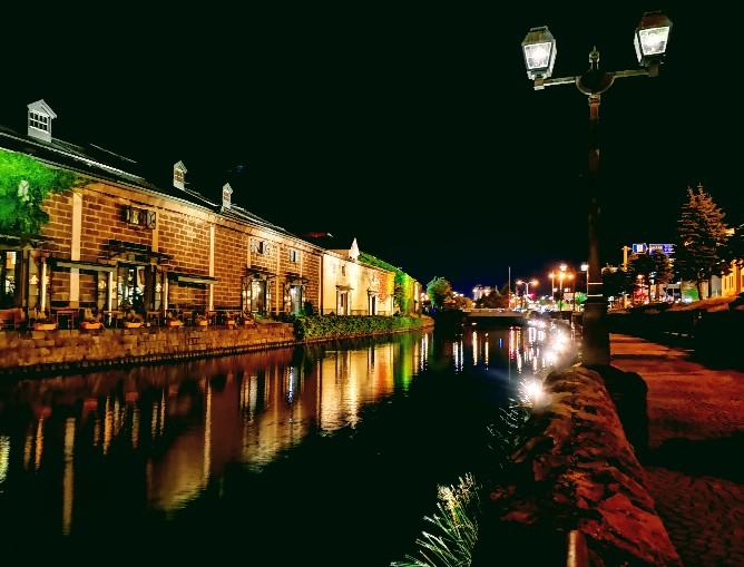 小樽運河夜の灯り