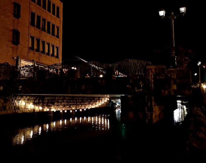 小樽運河夜の橋