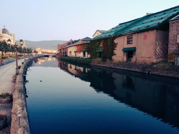 小樽運河の早朝