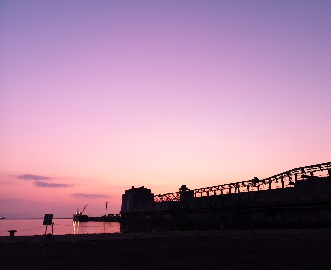 小樽港の朝