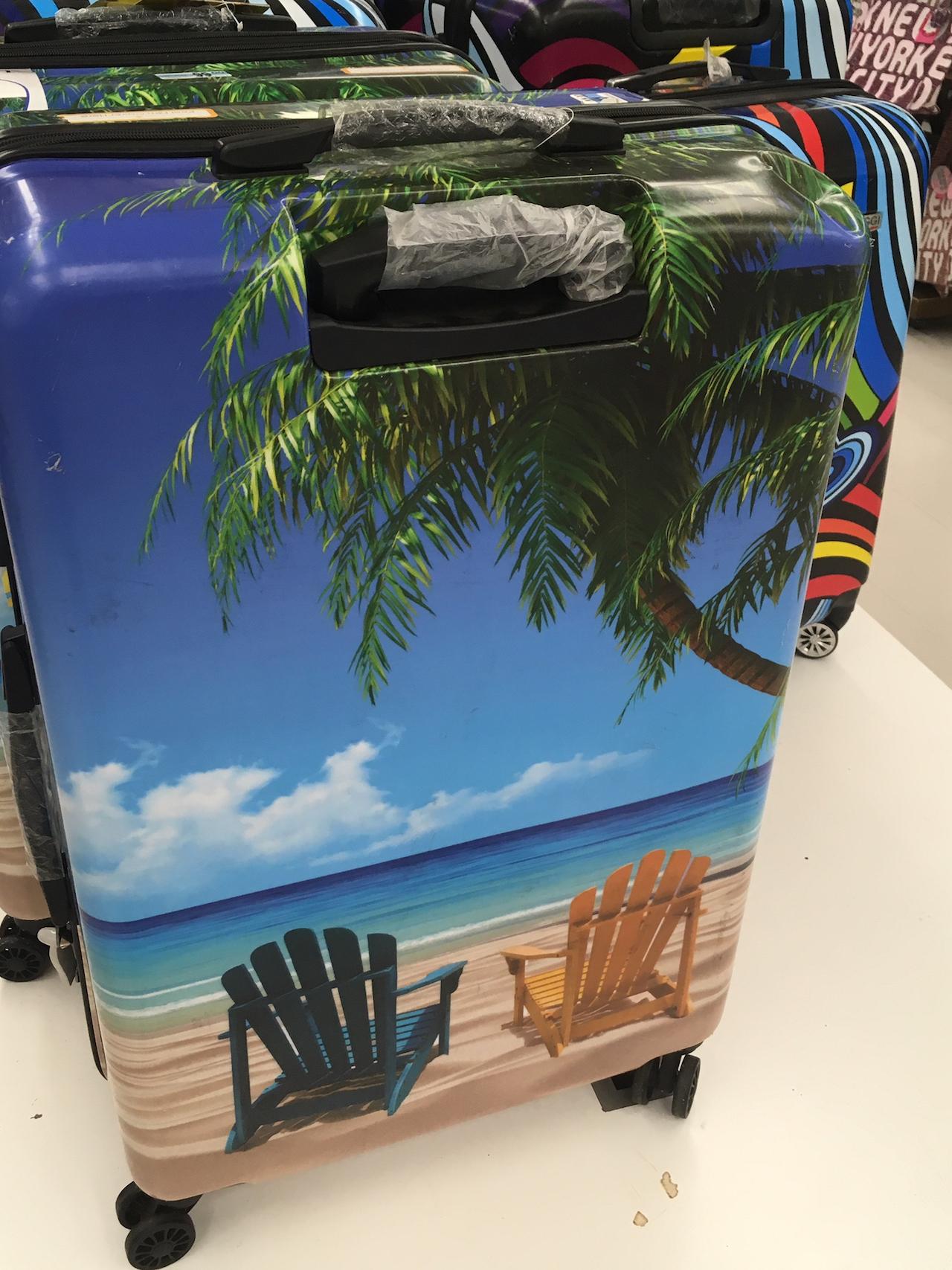 シーサイド柄 スーツケース