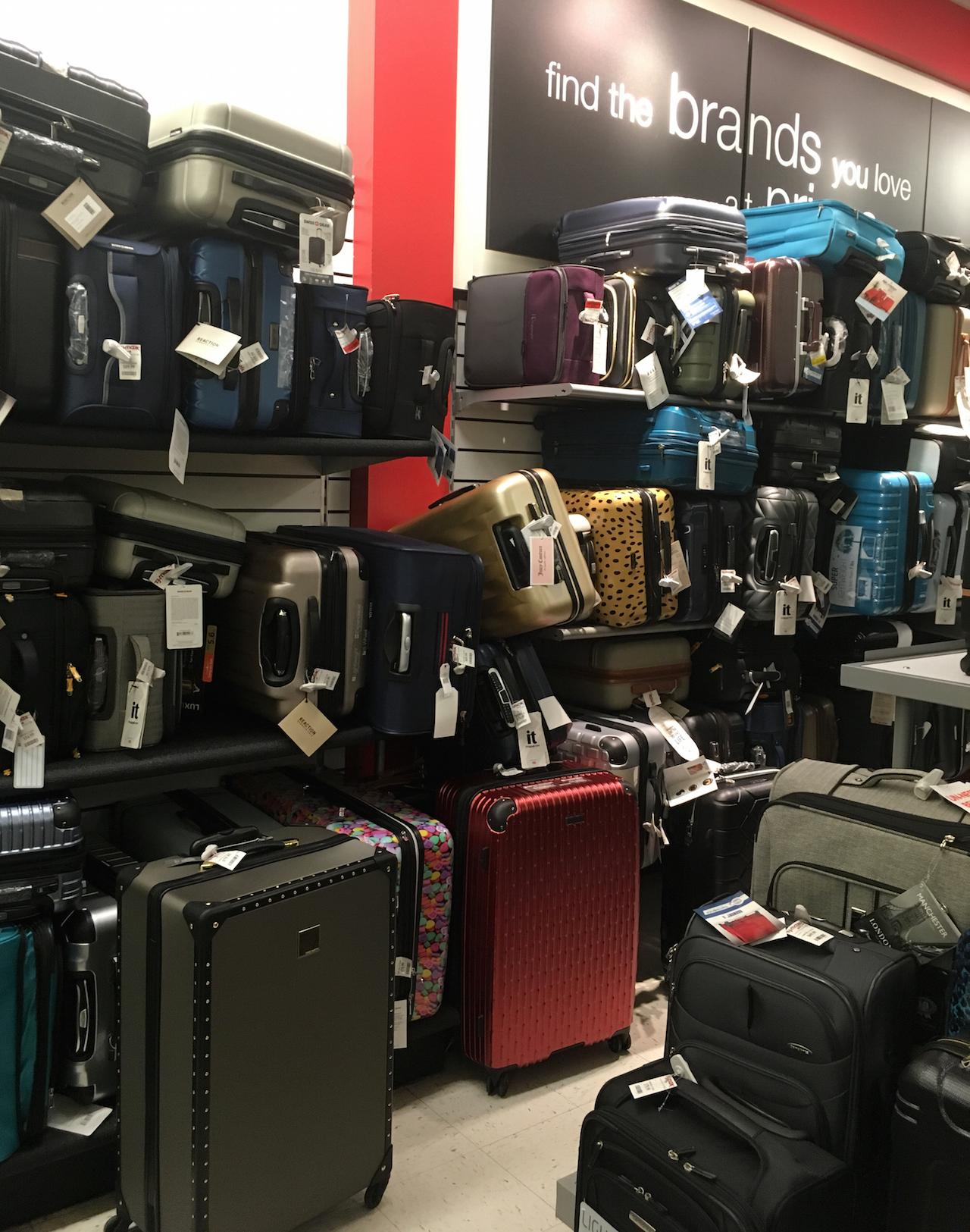 スーツケース売り場 ニューヨーク