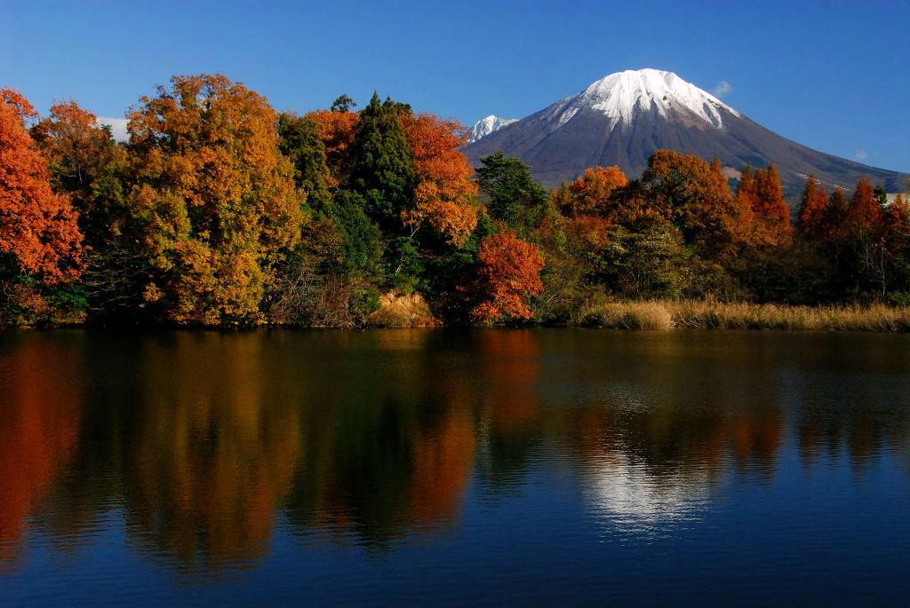 紅葉と大山 (平成20年度鳥取県写真コンクール共催者賞作品)