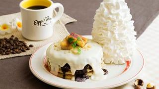 Eggs 'n Things(エッグスンシングス)「マカダミアナッツソースとチョコレートのパンケーキ」