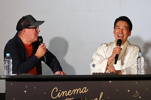 和泉元彌さんとMC Johnさんによるトークショー