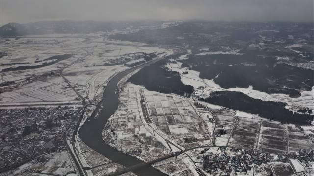 秋田平野雪景色