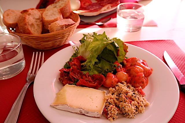 フランス料理のブッフェレストランにて