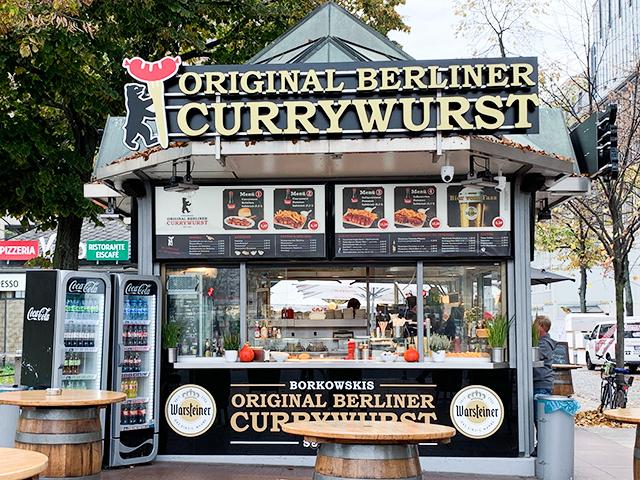 「Borkowski's Original Berliner Currywurst」