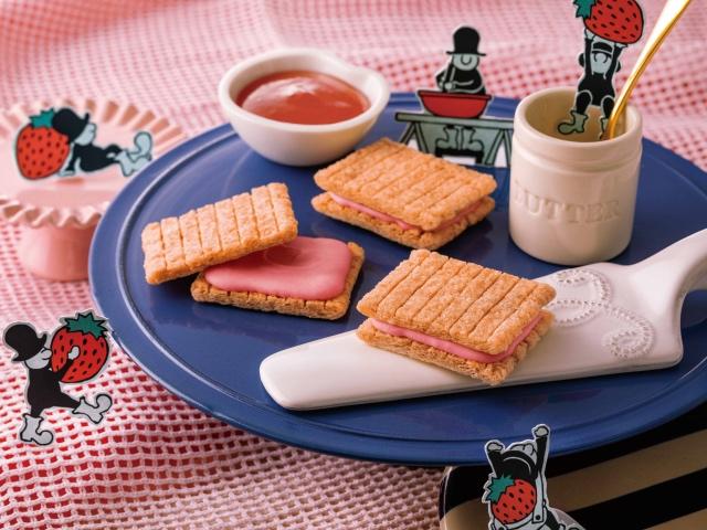 あまおう苺のシュガーバターサンド2