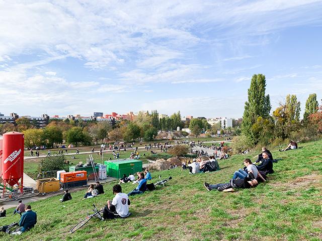 ベルリンの景色を見ながら楽しめます
