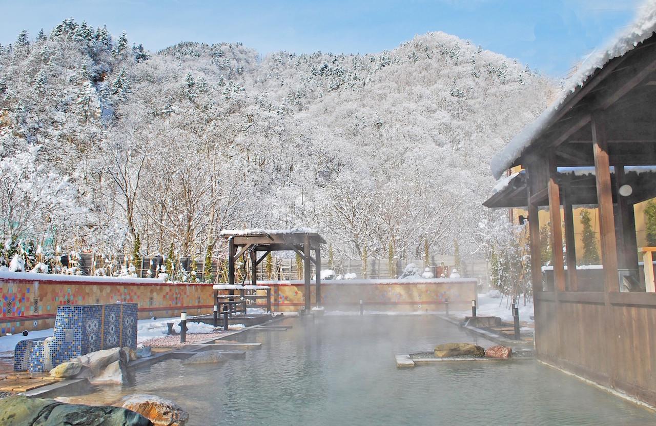 定山渓温泉 露天風呂冬
