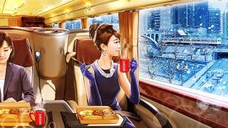 "YuGa(ユーガ) x ネスカフェ ""優雅な通勤バスで朝食を"""