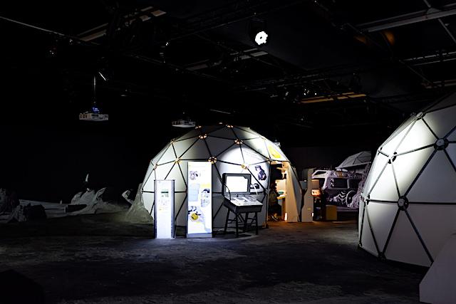 月面着陸をしたかのような展示室