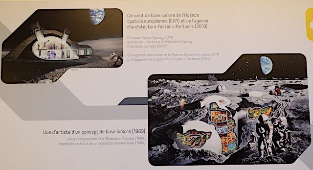 ESAのムーンベースプロジェクト、月面の住居案(写真左上)