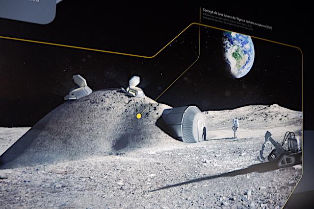 月面に長期滞在するための基地案(ESAのムーンベースプロジェクト)