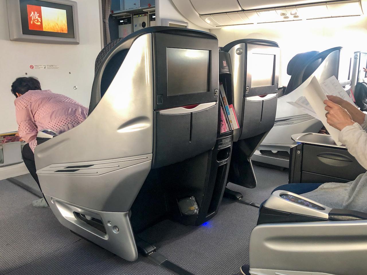 JAL飛行機機内2