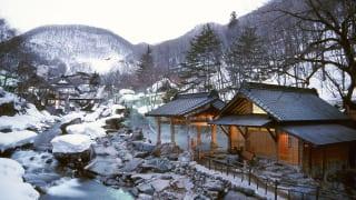 宝川温泉 冬景色