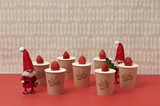 クリスマス気分が盛り上がる!苺のキャンドルケーキ登場【SODA BAR】