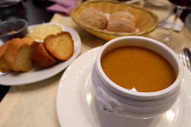 磯の香りたっぷりの「スープ・ド・ポワソン」