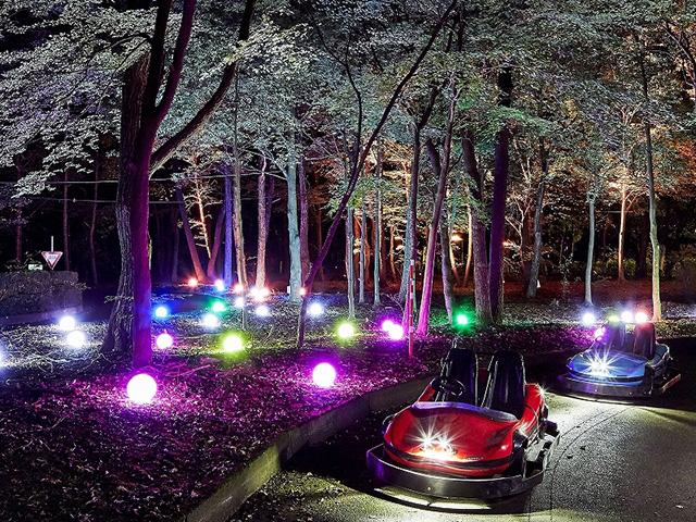 那須りんどう湖レイクビュー「光と水のスイスなフェスティバル フェスタ・ルーチェ」光のゴーカート
