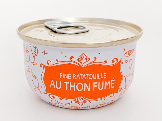 FINE RATATOULLE AU THON FUME(スモークマグロのラタトゥーユ)6.95ユーロ