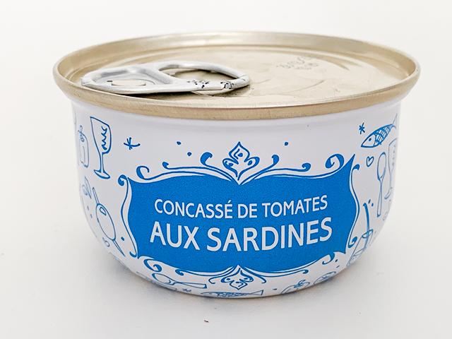 CONCASSE DE TOMATES AUX SARDINES(イワシとトマトのコンカス)6.95ユーロ