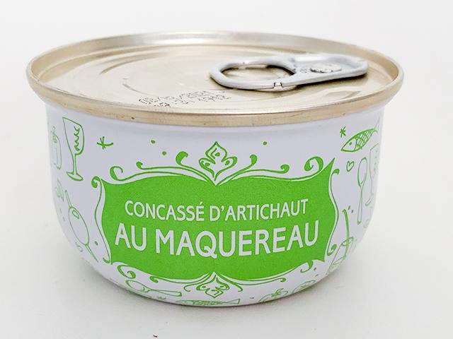 CONCASSE D'ARTICHAUT AU MAQUEREAU(サバとクラッシュアーティチョーク)6.95ユーロ