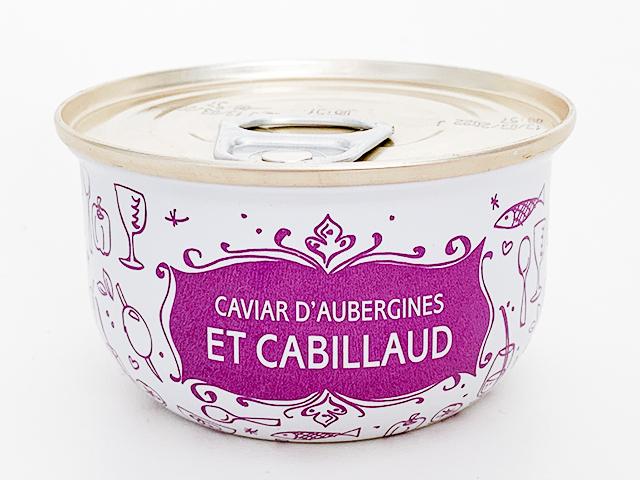 CAVIAR D'AUBERGINES ET CABILLAUD(ナスとクラッシュタラ)7.25ユーロ