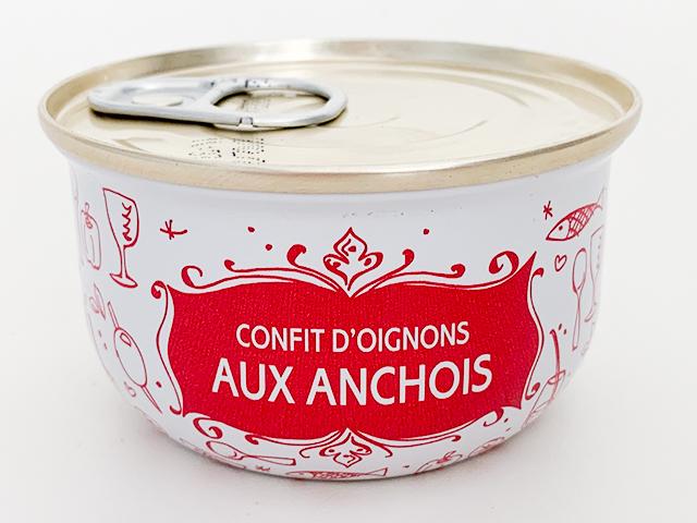 CONFIT D'OIGNONS AUX ANCHOIS (タマネギとアンチョビのコンフィ)6.95ユーロ