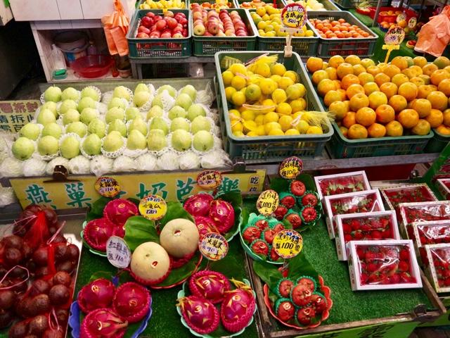 台湾フルーツがずらり