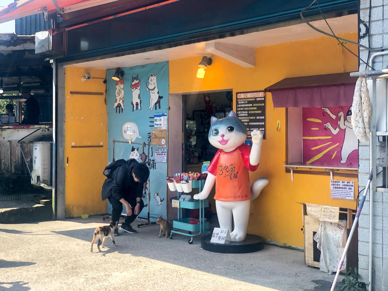台湾猫村内のショップ