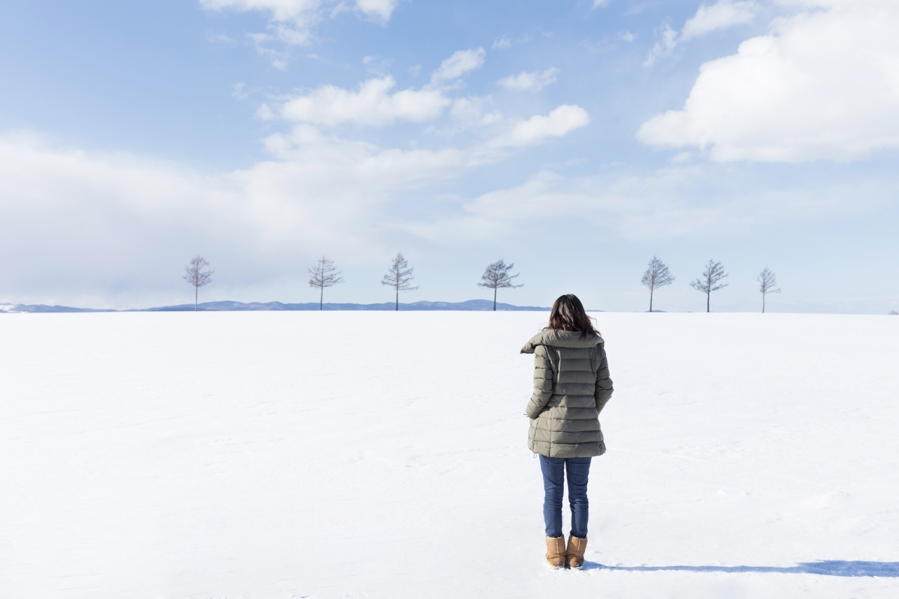 北海道 メルヘンの丘 女性