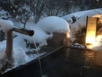 八丁の湯 雪の露天