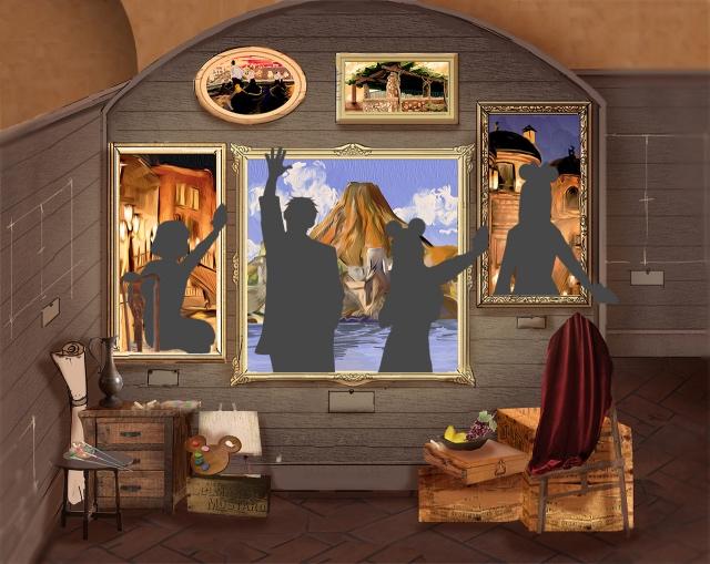 「ポンテ・ヴェッキオ」に画家のアトリエをイメージしたフォトポイント