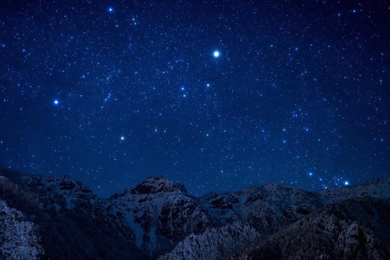 奥飛騨 北アルプスと星空