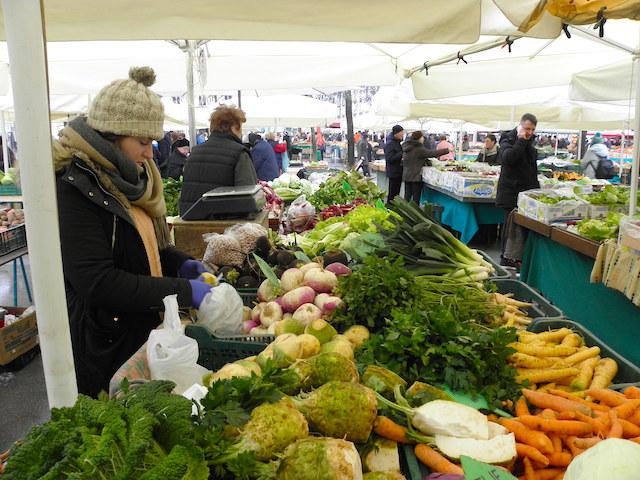 リュブリャナ中央市場
