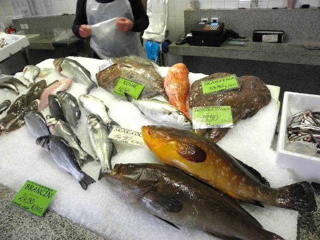 魚市場の魚