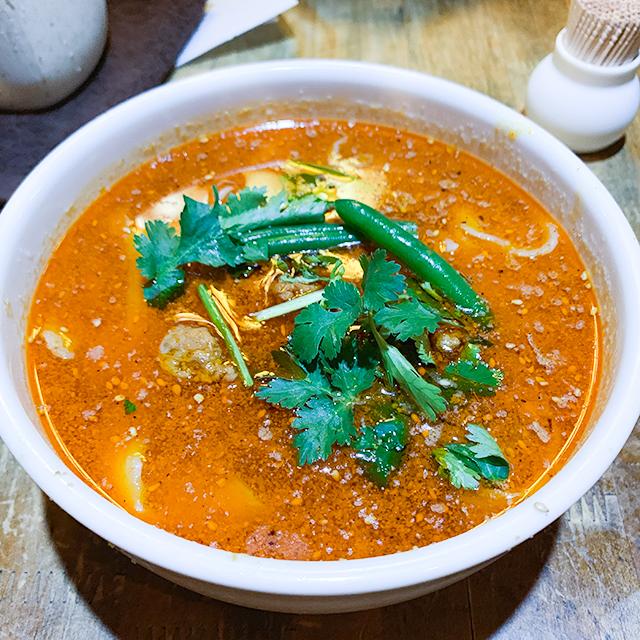 ラー油と唐辛子のスープ!
