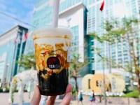 黒糖タピオカミルクと台北101
