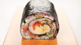 あべのハルカス近鉄本店「2020年恵方巻特集」さかな屋の寿司「シャリが5色の海鮮巻」