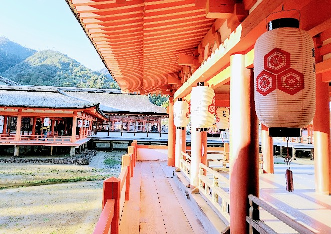 嚴島神社朝の朝
