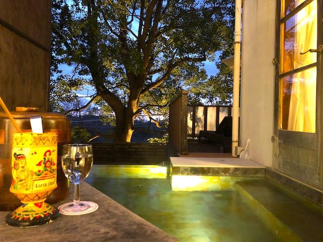 リゾートホテル コルテラルゴ伊豆高原 温泉 夜