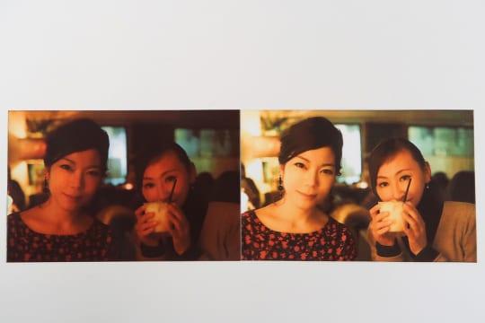 左は補正せずに印刷、右はCamera+で補正して印刷した。仕上がりの違いは一目瞭然。