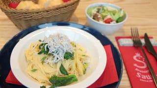 この日シェフのお勧めランチに登場した「タケノコと菜の花のパスタ」。